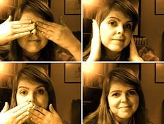 13/365: see, hear, speak no evil (Elementary, my dear Watson) Tags: selfportrait 365 cheesey