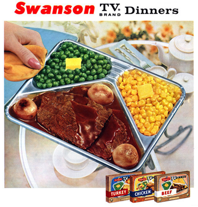Dekhomessl tv dinners i find tv dinners have gone down in quality over the years the replacement of the aluminum trays with plastic ones in the mid 1980s was for me forumfinder Choice Image