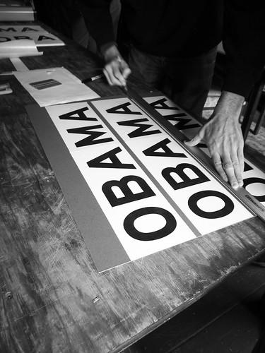 Making Obama Street Signs