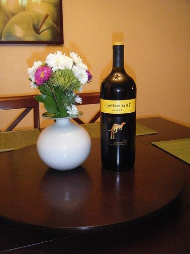 Big Bottle of Yellow Tail Shiraz.