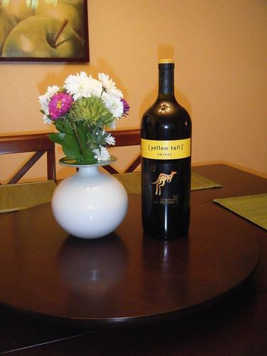 Big Bottle of Yellow Tail Shiraz.