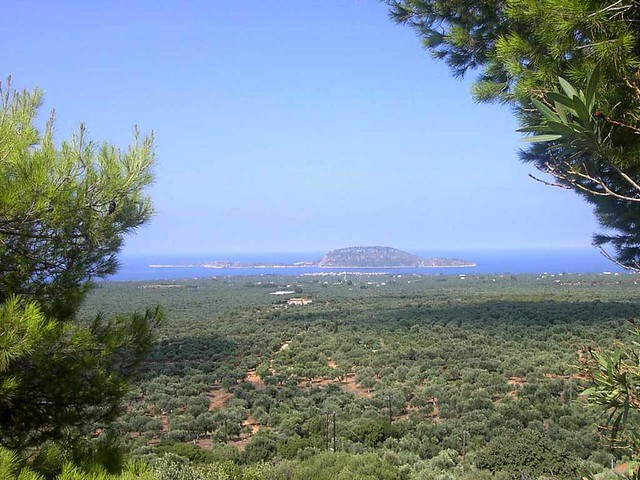 Πελοπόννησος - Μεσσηνία - Δήμος Γαργαλιάνων Μαραθούπολη Μεσσηνίας και απέναντι το νησάκι Πρώτη
