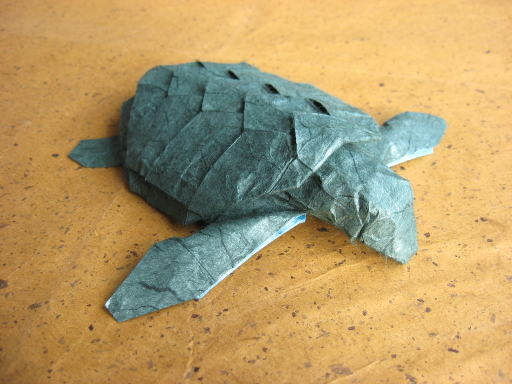 Final version jeosss origami blog im pretty happy with it someday i want to replace this unryu paper with a green version of the marbled unryu i used in my armadillo lizard but im afraid jeuxipadfo Image collections
