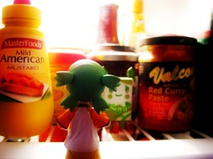 Twitter 365 - Ft Yotsuba [032] (KayVee.INC) Tags: she food toy hope fridge looking drink doesnt sydney australia kawaii mustard hungry soy february 2009 kaiyodo tokidoki whatsfordinner yotsuba danbo  caringbah cavey theshire twitter revoltech moofia kayvee  twitter365 danboard kayveeinc revoltechyotsuba 010209 hopeshedoesntdrinksoy msh031019 msh0310