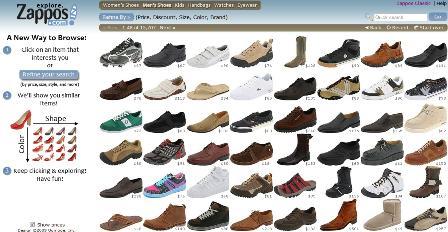 Explore Zappos visual search