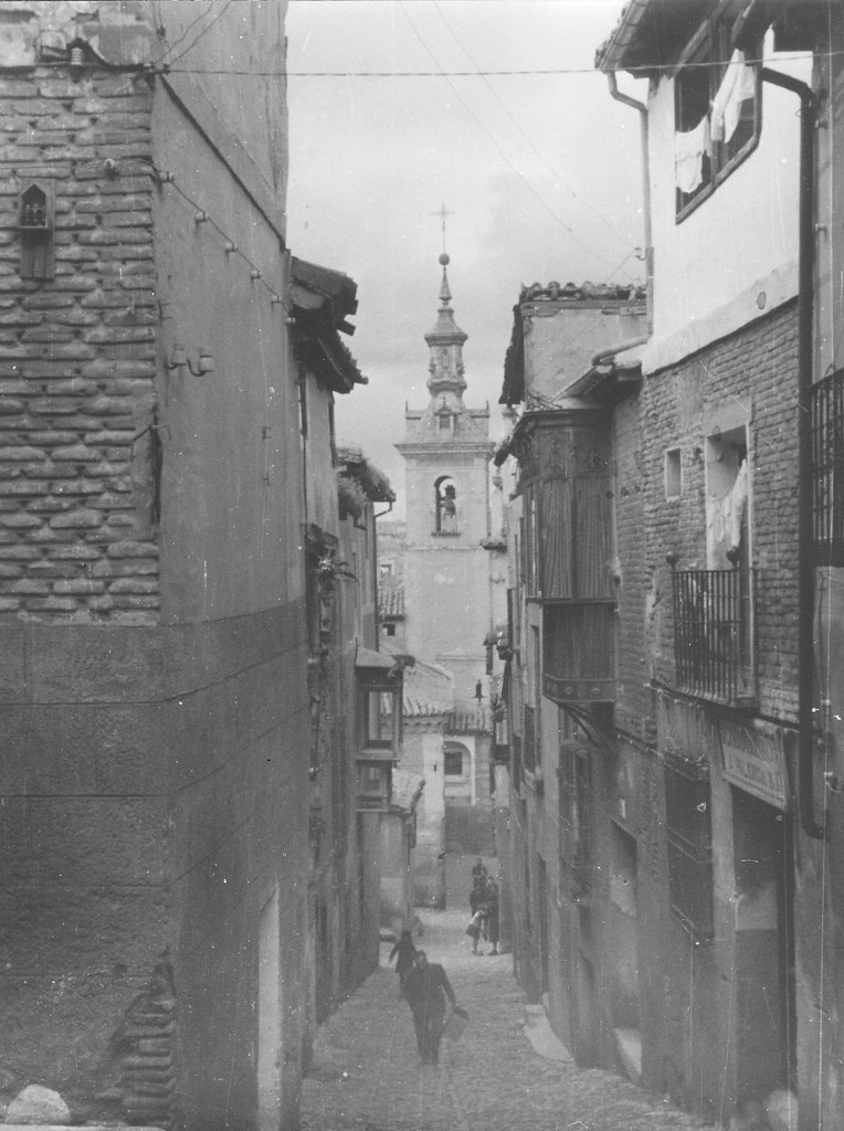 Iglesia de San Justo (Toledo) en febrero de 1963. Fotografía de Eduardo Butragueño Bueno