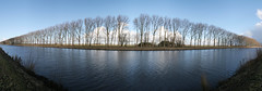 Van Starkenborghkanaal (eworm) Tags: trees autostitch panorama canal bomen nederland thenetherlands kanaal groningen vanstarkenborghkanaal