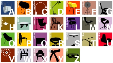 Modern Classics Alphabet Poster by Blue Ant Studio