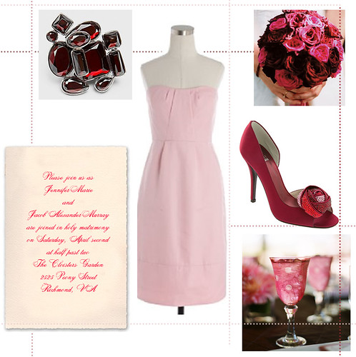 Wedding Wednesday: Pale Pink & Burgundy