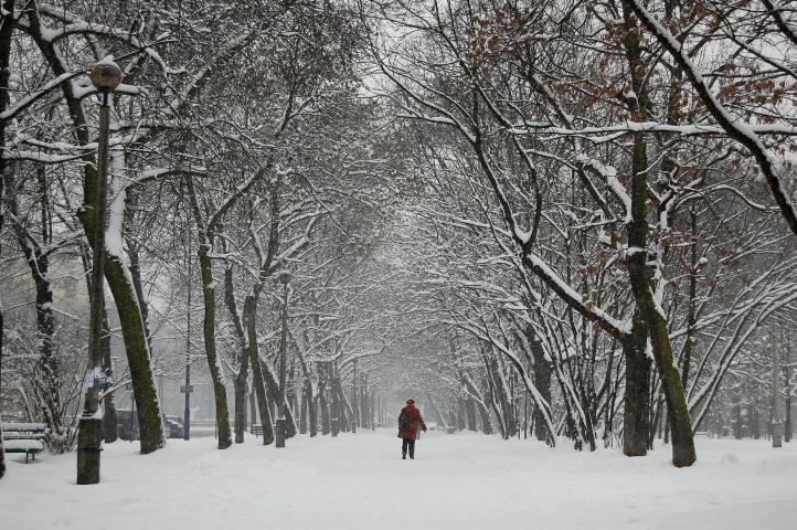 winter in Nowa Huta