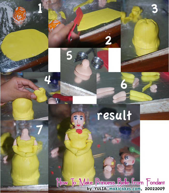 How To Make Princess Belle from Fondant