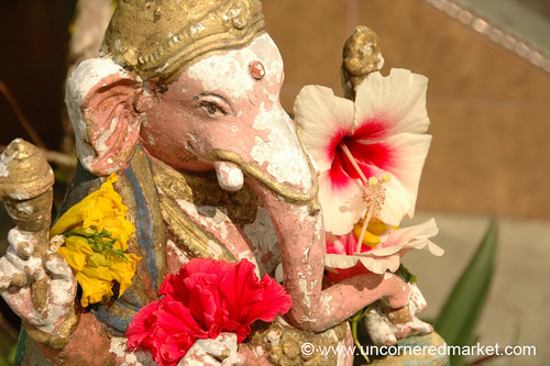 Ganesh and Flowers