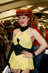 Silk Spectre Cosplay (shaire productions) Tags: sf sanfrancisco california city people urban woman anime film girl yellow lady female vintage comics fun costume outfit community 60s comic cosplay candid character mother culture dressup retro redhead celebration nostalgia event wig convention figure animation movies 50s annual popculture watchmen comiccon 2009 pinup cultural mosconecenter 40s wondercon yearly thewatchmen missjupiter coplay silkspectre
