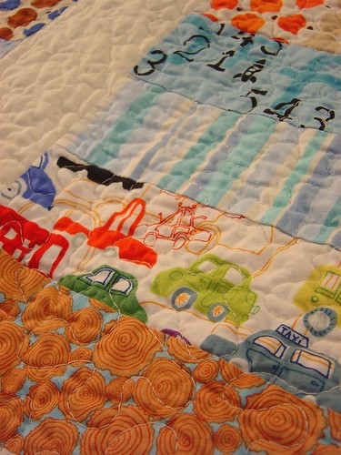 Baby Boy Coin Quilt - Detail
