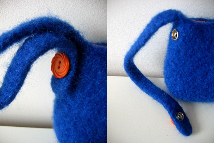 blue & orange SFpurse