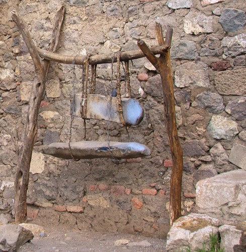 Ethiopian Lithophones with Stand, Monastery of Na'akuto La'ab