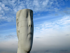 Head in the clouds (Mr Grimesdale) Tags: statue olympus dreams publicart sthelens merseyside jaumeplensa e510 mrgrimsdale stevewallace suttonmanor suttonmanorcolliery mrgrimesdale