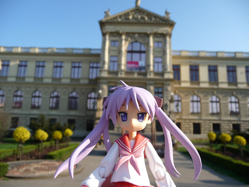 Kagami in front of Museum of the Capital of Prague
