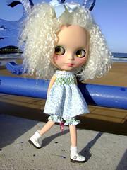 Moira en la playa