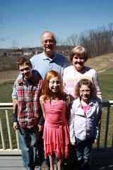 Dad and Judy with Nate, Maddie and Em