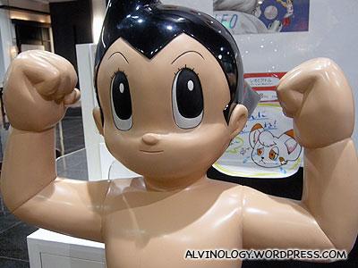 Close-up of the Astroboy figurine