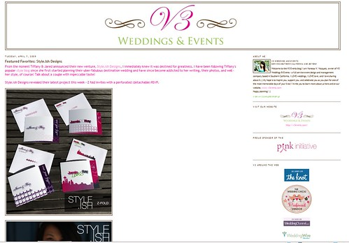 V3 Weddings and Events - style.ish Invitations Feature