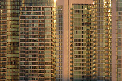 condo world (picturenarrative) Tags: sunset toronto canada building tower glass architecture apartments realestate planning condos concord residential urbanism development urbanplanning density cityplace concordpacific plannedcommunity masterplannedcommunity governmentality