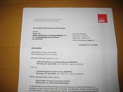 SPD-Einladung zum Landesparteitag