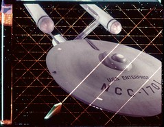 Optical of Enterprise in Tholian Web (birdofthegalaxy) Tags: startrek television 35mm scifi sciencefiction enterprise tos filmclip theoriginalseries culttv tholian