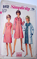Simplicity 6412 Vintage 60's Sewing Pattern A-Line Dress with Matching Coat (Sassy By Design) Tags: flickr pattern sewing coat internatioanal vitnage alinedress matchingcoat simplicity6412
