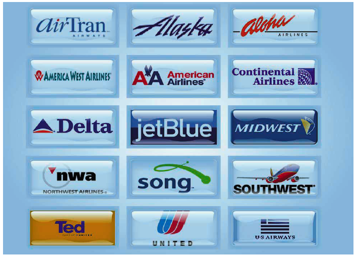 LAS Multi-Airline Check-in Kiosk Screen