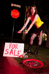 Fourth Street. (laurenlemon) Tags: portrait art girl night screws highheels peace cops forsale boots cigarette smoke creative diana stopsign fishnets reno conceptual hooker selling fourthstreet rpd getitgirl strobist canoneos5dmarkii laurenrandolph dianakathleen dianabradbury laurenlemon