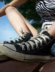 103 (BREananicOLE) Tags: outside converse chucks chucktaylors blackchucks