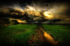 bendang/paddy field (Mat Padin) Tags: sunset cloud green evening nikon village cloudy malaysia kampung gunung awan gajah hdr bukit paddyfield merah perak bendang d300 kubu coth sigma1020 sawahpadi platinumheartaward semanggol hujau