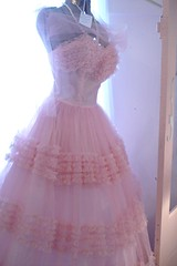 Pink Prom Dress (such pretty things) Tags: old pink vintage ruffles dress antique prom 1950s tulle ruffle