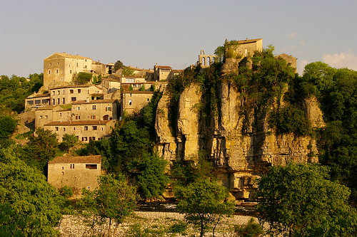 The village of Balazuc, on the Ardèche River. Photo: Jean-Christophe