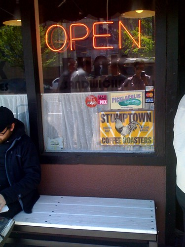 The line out the door at Portland's bunk sandwiches promises awesome