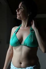 Patricia Green Bikini Profile (Ricardo Carreon) Tags: brazil woman green girl brasil ensaio mujer topv333 chica ubatuba perfil mulher profile topv444 naturallight sp bikini wife patricia topv666 photosession swimwear photoessay greenbikini luznatural bikiniverde
