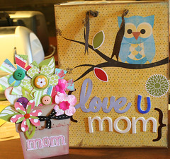 card and bag decorated for mom