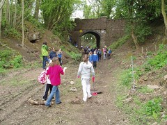 57 from St Bartholomew's year 5 visited the trackbed to undertake historical and ecological study