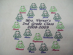 55/365.2 Complete Frog Blanket (fatslick70) Tags: man male art thread hat shirt hoop embroidery sewing machine craft hobby jacket cap needle stitches 40 fiber digitizing backing ackerman amann wilcom solvy isacord barudan 4head isafil