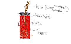 thermite device 1 (Chimico Blu) Tags: fire explosive flamable thermite saldatura pyrothecnic