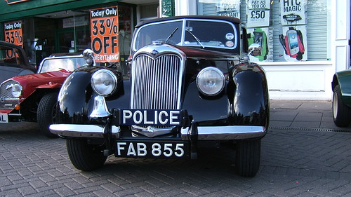 Police car FAB number plate : antique number plates - pezcame.com