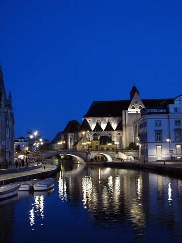 Ghent Canal at Night