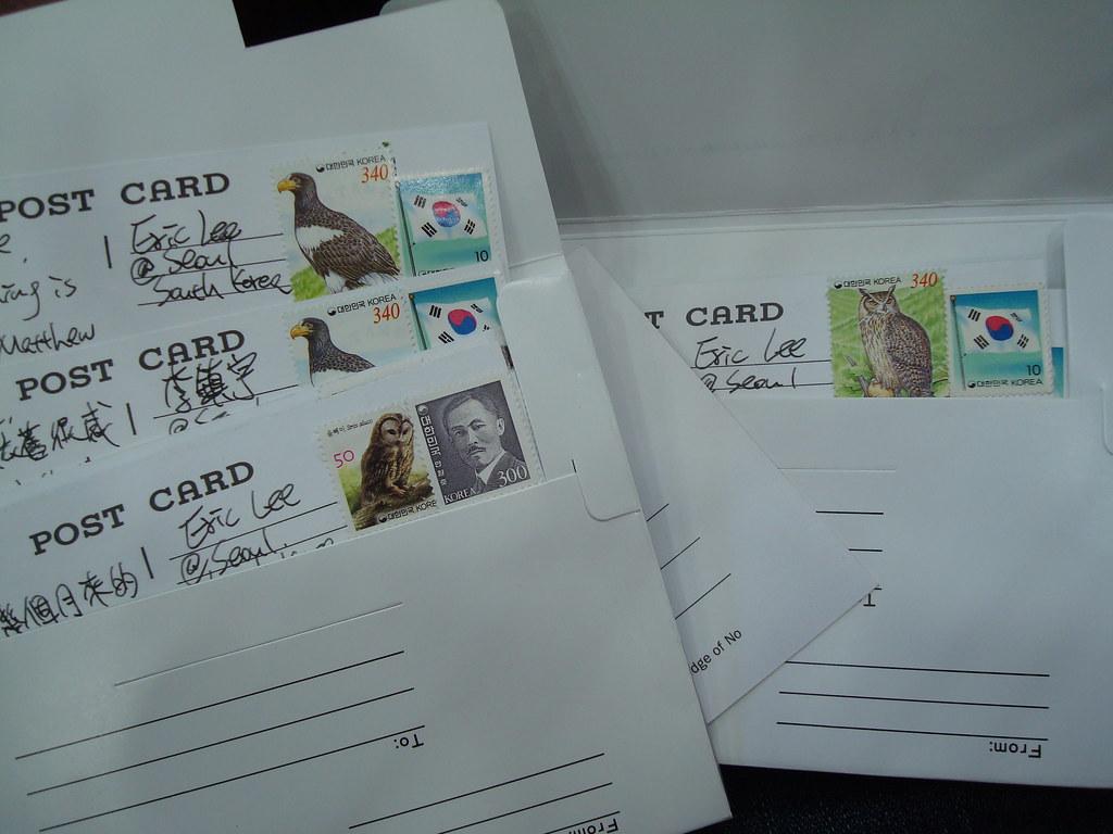 你們的明信片我都有寫