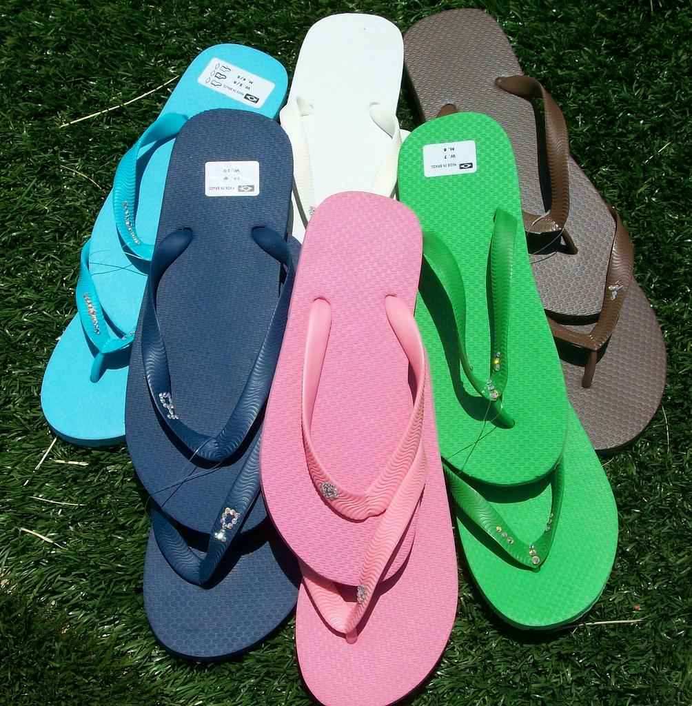 Rainbow of Flip Flops
