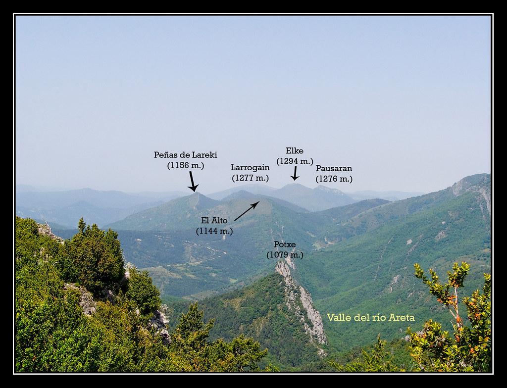 Vistas desde la cima de Arizgaña
