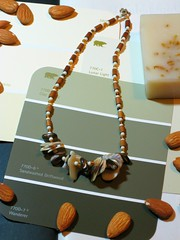 """Sandwashed Driftwood (and Almond) Necklace"" (Madonovan) Tags: june spring soap arty almonds necklaces rockyromero"