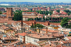 Across the Rooftops (3), Verona, Italy (sminky_pinky100 (In and Out)) Tags: city travel blue trees red sky urban italy green tower tourism clouds landscape europe pretty rooftops verona historical cultural overview redroofs personalbest mywinners omot eyejewel