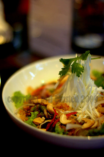 Crisp Fish with Tart Mango, Toasted Cashew Nuts with Thai Dressing